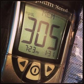 Acá está la consecuencia de la obstrucción del catéter... #diabetes #diabetestruobles #tipo1 #type1 #insulinpump #bombadeinsulina #insulin #insulina #cateter #catéter #glucómetro #glucometer #glicemia #glucemia #bloodglucose #test #hight #alta #hiperglice