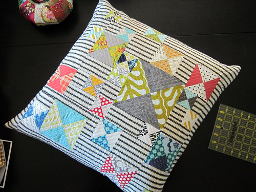 quilted Hourglass pillow