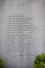 Star Spangled Banner words on memorial - National Anthem