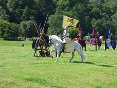 Six horse jousting at Hampton Court Castle, Herefordshire
