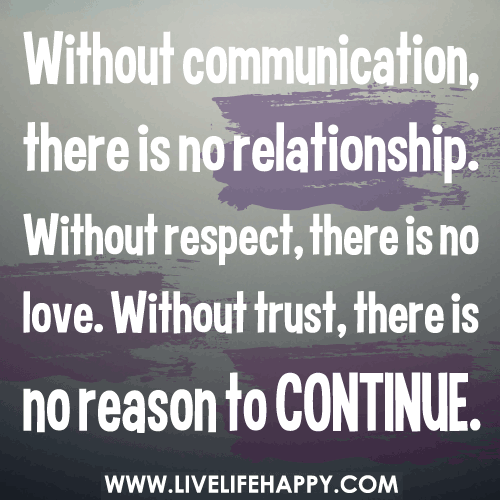 Teamwork Relationship Quotes: Without Communication, There Is No Relationship. Without