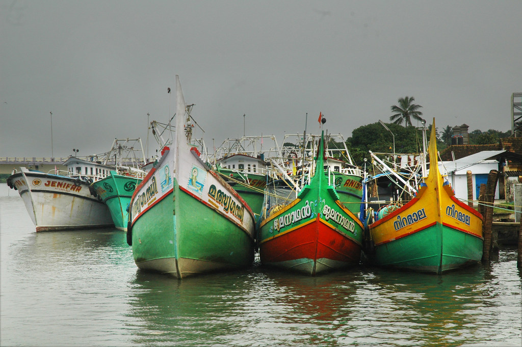 Boats in Kerala, India