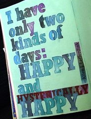 My Altered Book: Work in Progress - Happy and Hysterically Happy