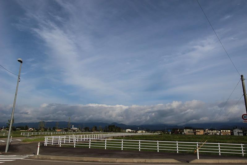 天気が良ければ剱岳が見えるはず