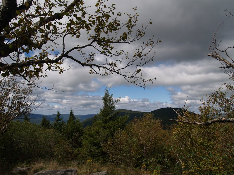 View Point on the Spruceton Trail West Toward Rusk Mountain and East Rusk