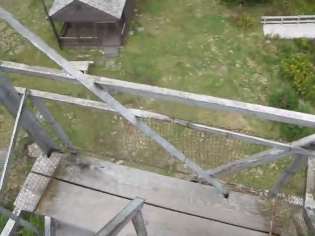 171 Video of Descending the Steep Stairs of the Hunter Mountain Fire Tower