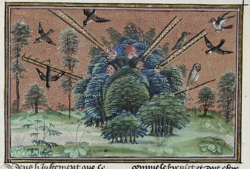 15th century illuminated manuscript miniature: Henri de Ferrières, Les Livres du roy Modus et de la royne Ratio 206