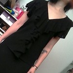 Ralph Lauren black linen ruffle top from tag sale in Wantagh