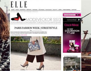 My photos featured on ELLE.se from Paris fashion week 2012