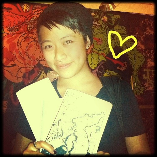 rev: Joan Chen who brought us #poczines from the Bay Area for the archive & tabled at Death By Audio on Oct 7