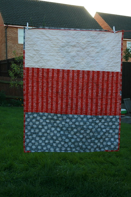 Helix quilt - back