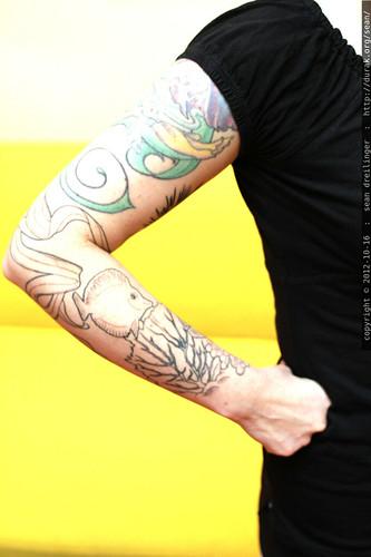 marine life tattoo outline    MG 9640