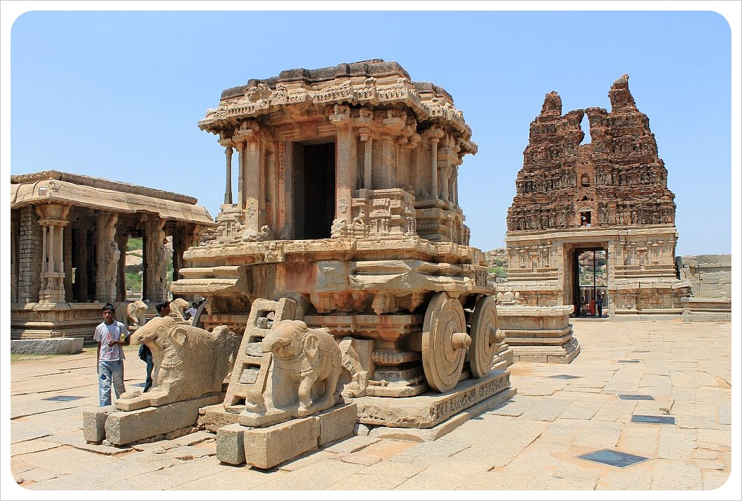 Vittala Temple with stone chariot