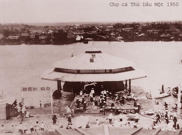 Chợ cá Thủ Dầu Một 1950