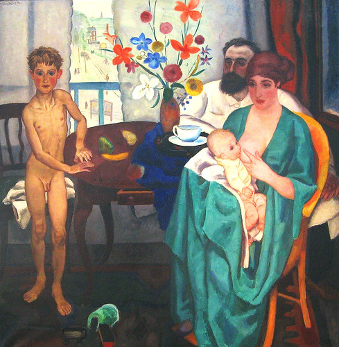 Sluijters,  Jan  (Dutch,  1881-1957)  -  The Painter and his Family  -1922