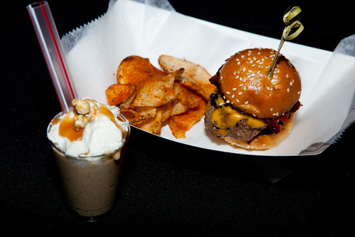 LT Burger: Smashed Smoke burger and mini salted caramel popcorn milkshake