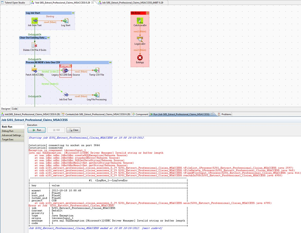 Microsoft Access 64bit ODBC error: Invalid string