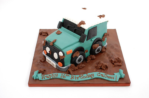 Road Sweeper Birthday Cake