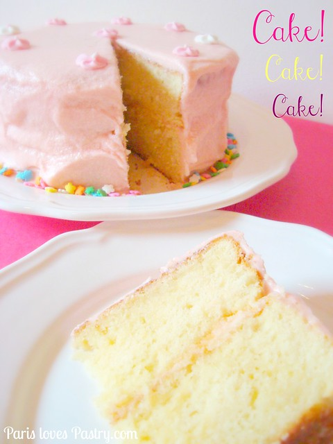 Super Simple Pink Layer Cake