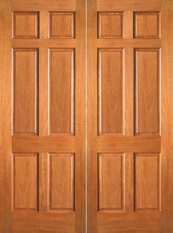 P 660 Interior Wood Mahogany 6 Panel Double Door Flickr Photo Sharing