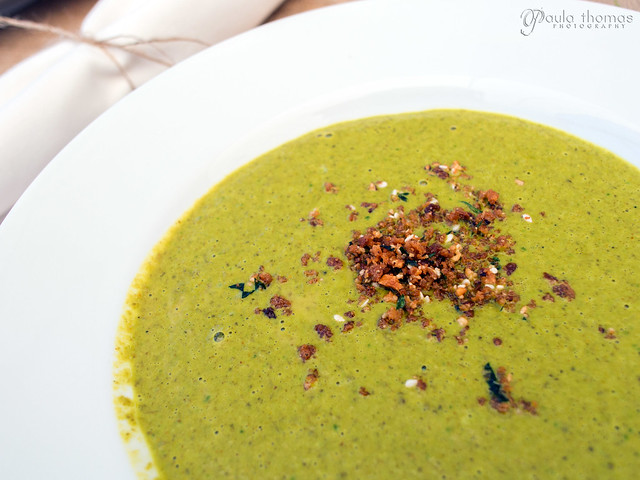 Curried Spinach and Mushroom Bisque