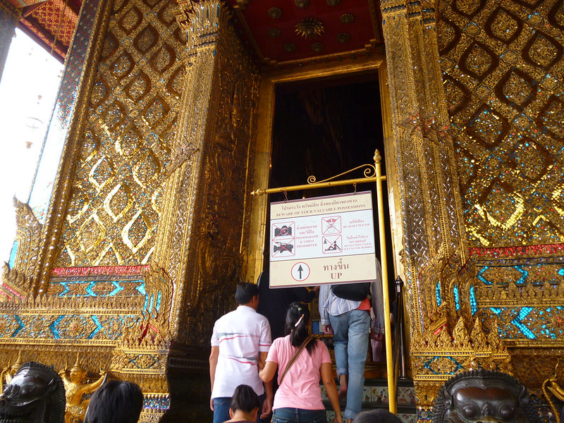 Entrance to Emerald Buddha shrine at Bangkok Grand Palace