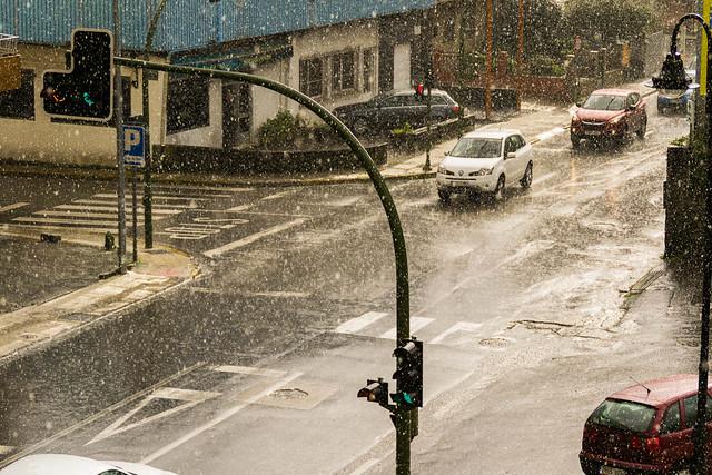 Lluvia otoñal en Cangas