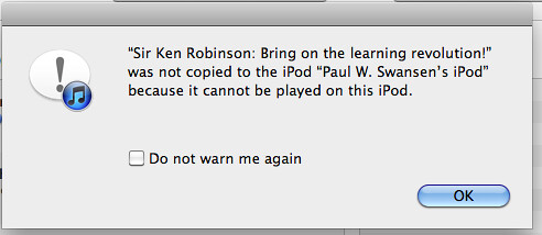 A useless portion of iTunes