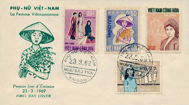 South Vietnam FDC 23-3-1969 - Vietnamese Women