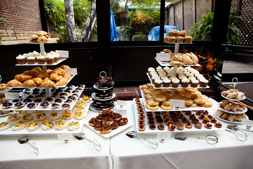The sweets buffet side
