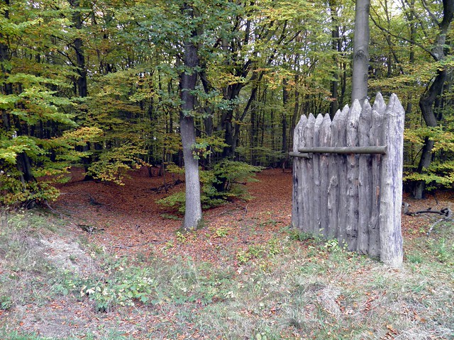 Limes with a reconstructed palisade ditch along the road from Rheinbrohl to Rock field, between the watchtowers WP/10 and WP/11