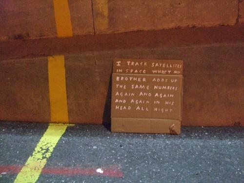 Daniel Lehan 'Cardboard Poems - The Night' image by: D. Lehan
