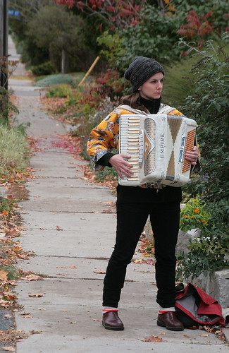 Sidewalk Accordionist by peterkelly