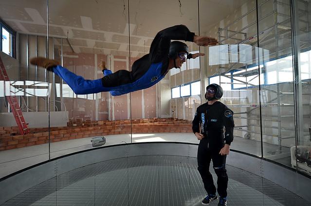 Volar en un tunel de viento