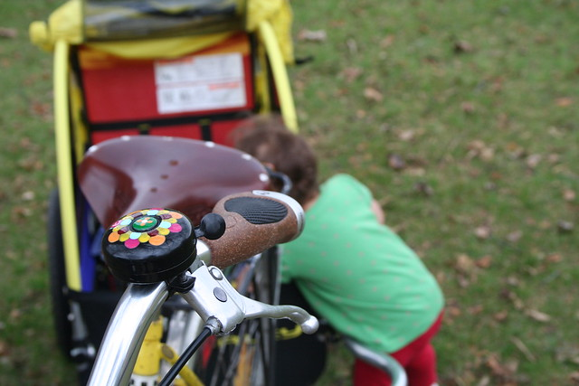 Fall cycling with my daughter