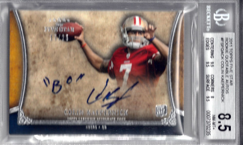 2011 Topps Five Star Rookie Quotable Autographs #FSFQACK Colin Kaepernick (17 of 25) BGS 8.5