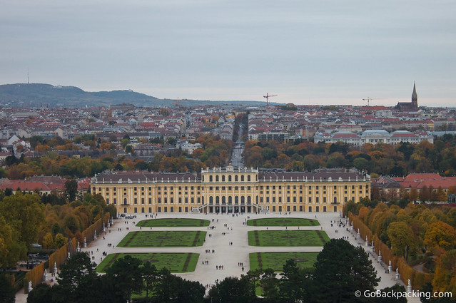 The massive Schönbrunn Palace