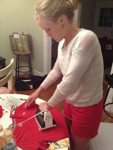 Emily ironing