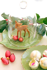 Vintage Bambi in Christmas colors