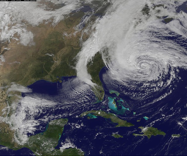 Sandy satellite image