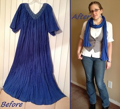 Muumuu Scarf Before & After