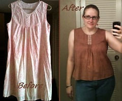 Lacy Nighty Tank Before & After