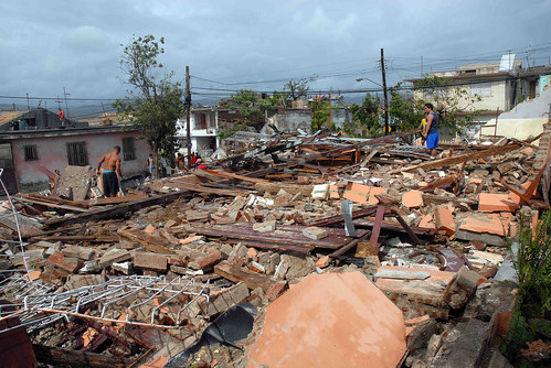 The damages in Santiago de Cuba are estimated at 88 million dollars. Credit: Agencia de Información Nacional