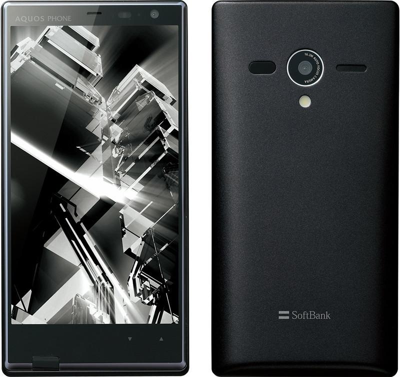 AQUOS PHONE Xx 203SH 実物大の製品画像