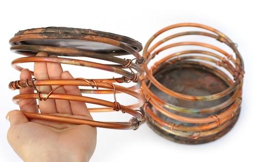 Copper Orchid Planter Pot - Handmade