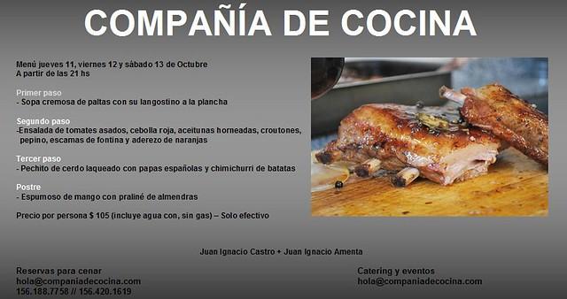 Menú Compañía de Cocina