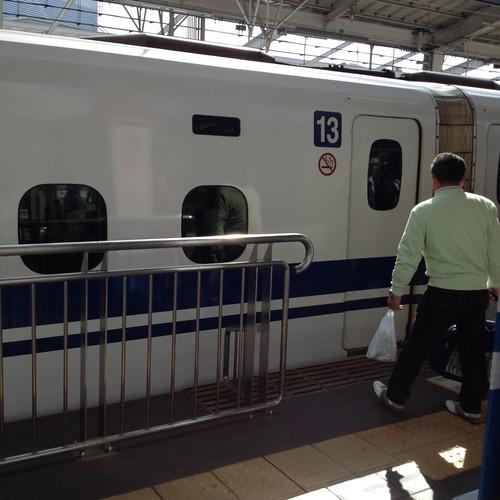 岡山駅でのぞみに by haruhiko_iyota
