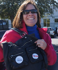 Katherine voted early for President Obama in Florida