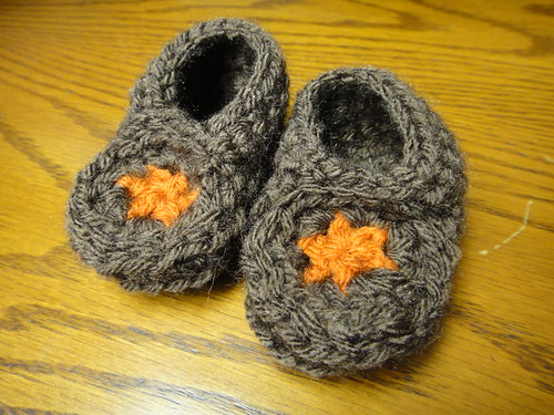 First attempt at booties.