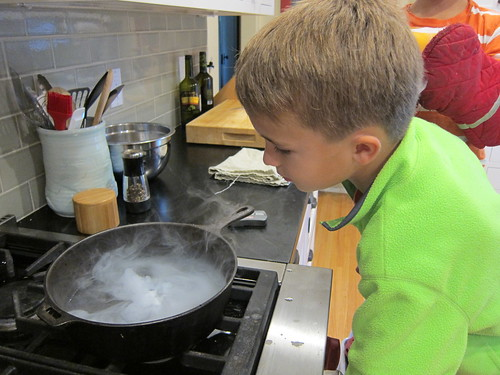 Ezra checks out the dry ice